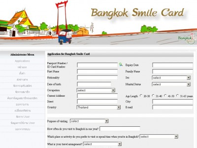 Bangkok Smile Card